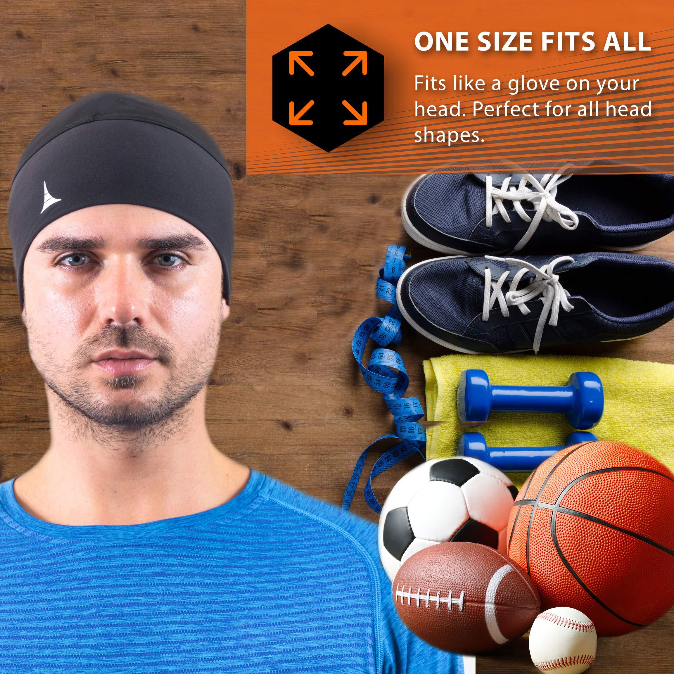 e26188bf4cc French Fitness Revolution Skull Cap Helmet Liner Running Beanie - Ultimate  Thermal Retention and Performance Moisture Wicking. Fits Under Helmets.  Store ...