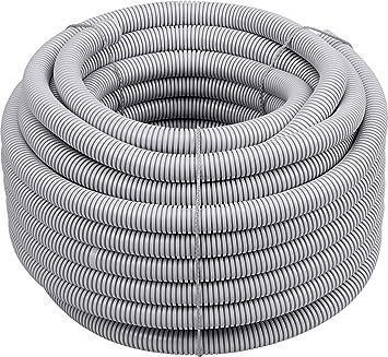 Wellrohr flexibles Wellschlauch Kabel Schutz Rohr Isolierrohr Leerrohr weiß