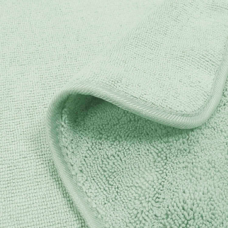 Handtuch-Set schnelltrocknende /& fusselfreie Mikrofaser Beige 6-teilig Polyte