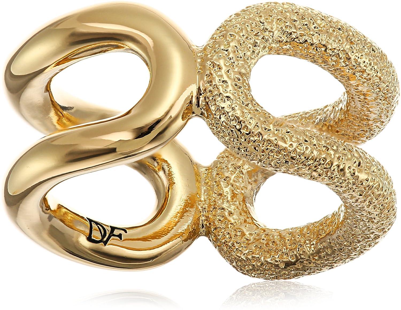 Diane von Furstenberg Sandy Links Sandblast Cut Out Ring, Size 7 DV00675-R01