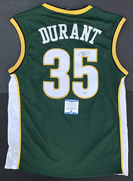 1dcd4616b WARRIORS!!! Kevin Durant Signed SEATTLE SUPERSONICS SONICS Authentic ...
