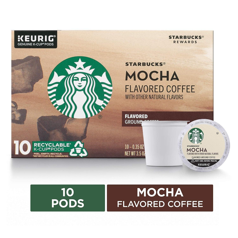 Starbucks Mocha Flavored Medium Roast Single Cup Coffee, 10 ct