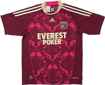 Adidas OL A JSY Y OL - Camiseta exterior fútbol para niño Burdeos/Oro, fútbol, Niño, color naranja, tamaño 10 años: Amazon.es: Deportes y aire libre