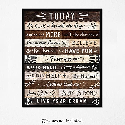 Positive Motivational Life Is Tough Inspirational Print Home Decor Quote Poster