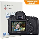 Canon EOS 6D LCD Tempered Glass Screen Protector, Exuun Optical 9H Hardness 0.33mm Ultra-Thin DSLR Camera Tempered Glass for Canon EOS 6D