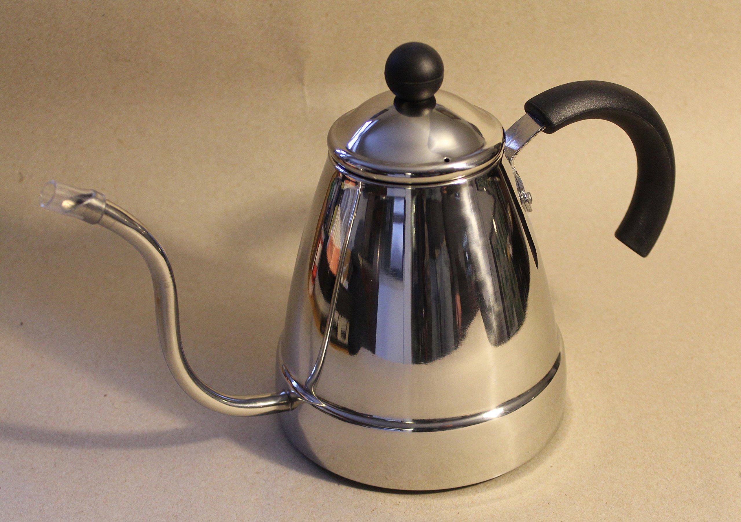 Gooseneck Water Kettle - Stainless Steel - Coffee & Tea - 1.4L, 48 floz