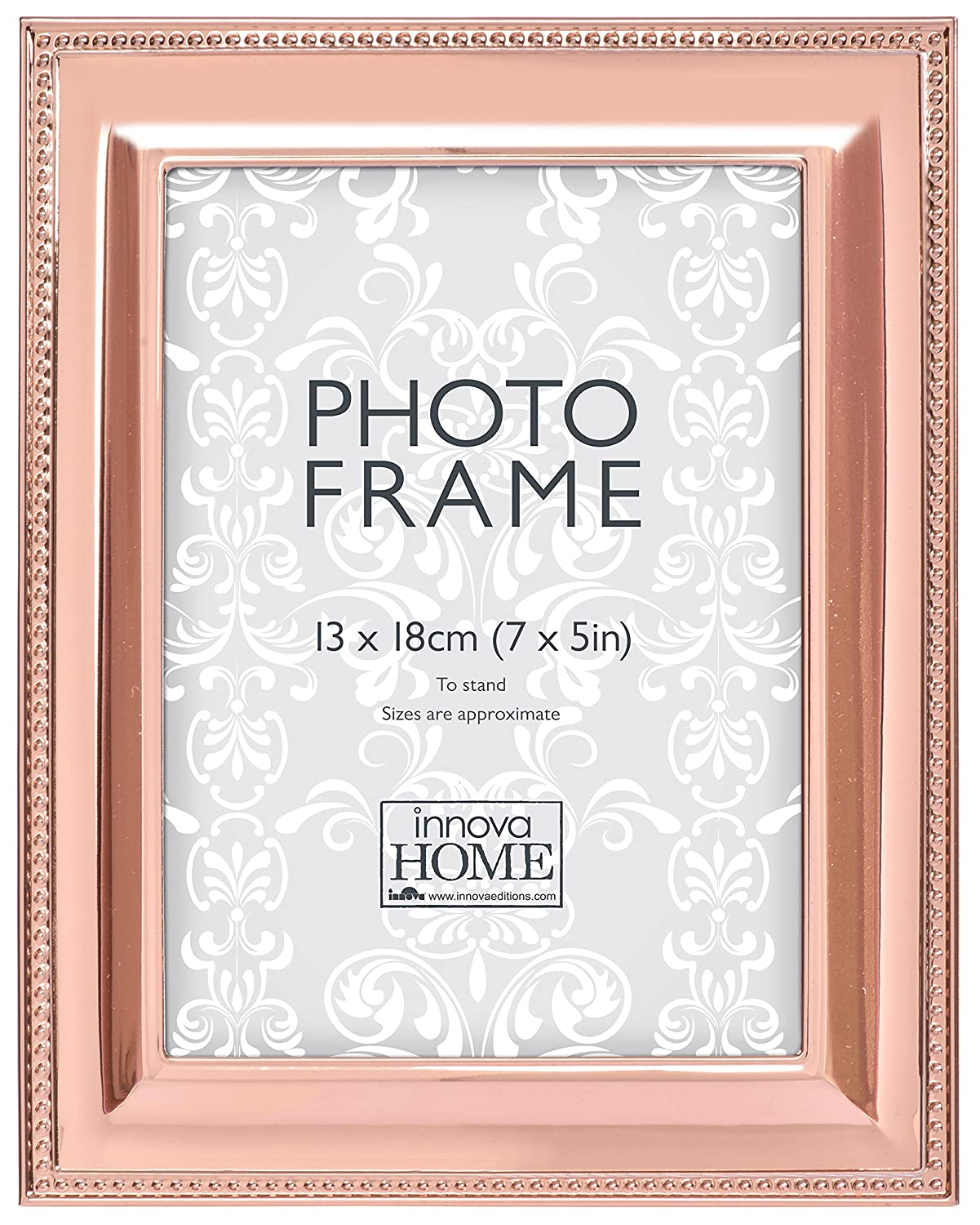 e8a02ab57cf Innova Beautiful And Chic Photo Frame With Beading Pattern Around Edge