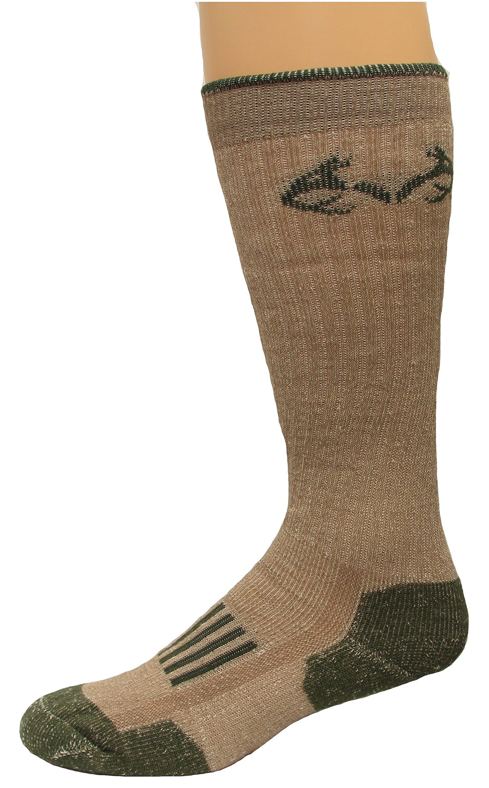Realtree Men's Merino Tall Boot Socks, Tan, X-Large