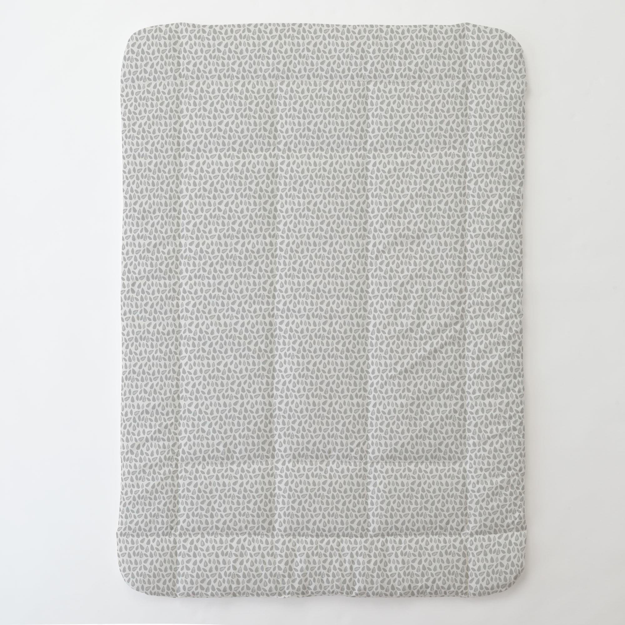Carousel Designs Gray Woodland Leaf Toddler Bed Comforter