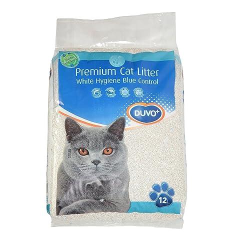 DUVO + Premium White Blue Control para Arena de Gato 12 kg