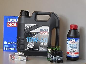 Kit de mantenimiento Honda VTX 1800 aceite de aceite Bujía ...