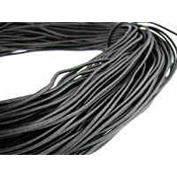 Cuerda de piel redonda 3 mm. Color negro