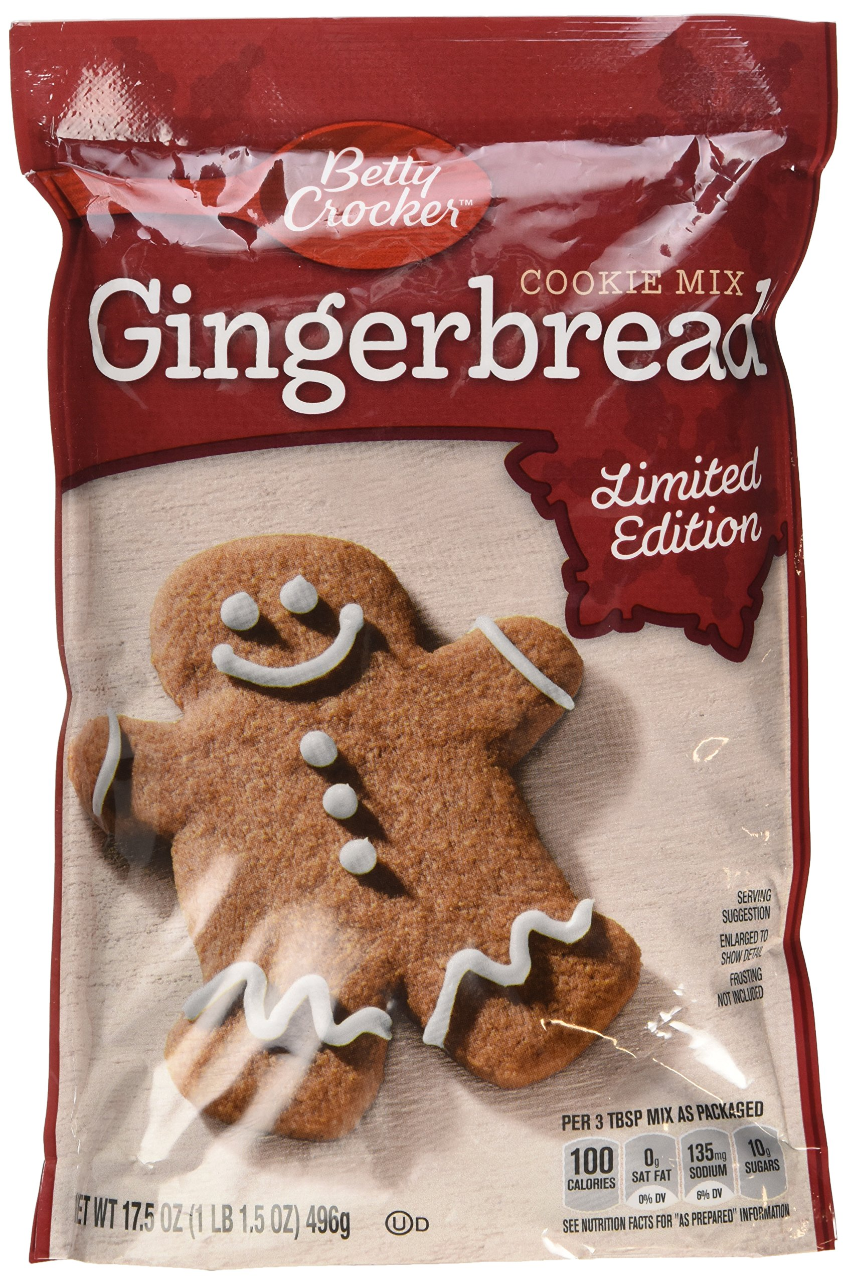 Betty Crocker Gingerbread Cookie Mix 17.5 Oz (Pack of 2)