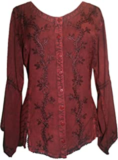1a605f92f8 Agan Traders 11 B Women s Boho Gypsy Medieval Sexy Corset Top Blouse ...
