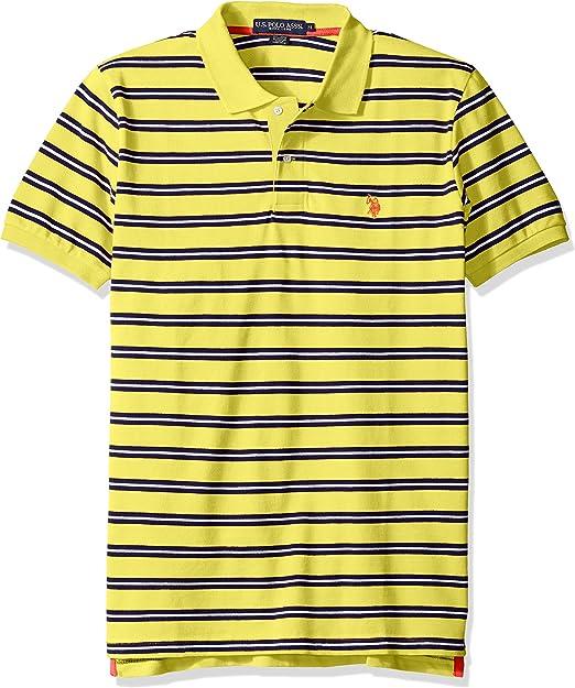 U.S. Polo Assn. Hombres Camisa Polo - Amarillo -: Amazon.es: Ropa ...