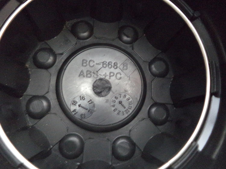 1-MB Motorsports Motoring 2 Piece Hub Cover Chrome Center Cap BC-668 A /& B