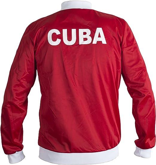 JL Sport Cuba De 1980 Chaqueta Retro Fútbol Chándal De Los Hombres ...