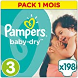 Pampers Baby Dry, 198 Pannolini, Taglia 3 (5-9kg)