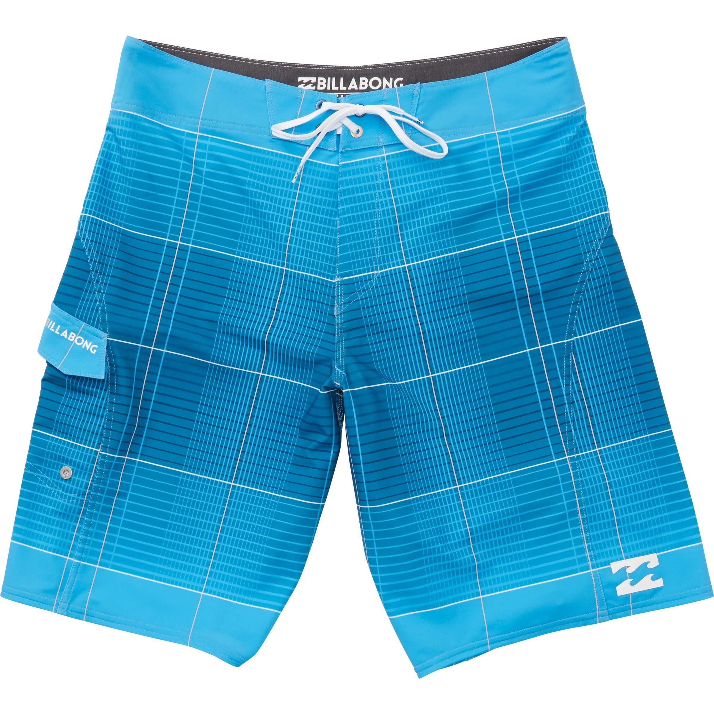 Billabong Men's All Day X Plaid Stretch Boardshort, Blue, 30