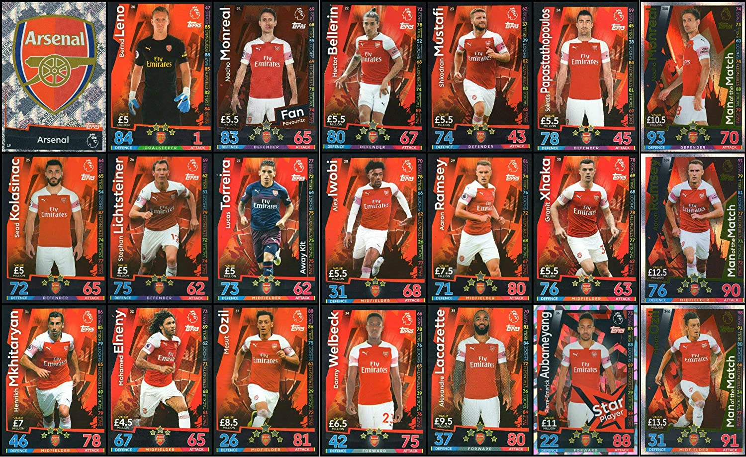 Match Attax 18//19 Alex iwobi Arsenal tarjeta base Nº 28