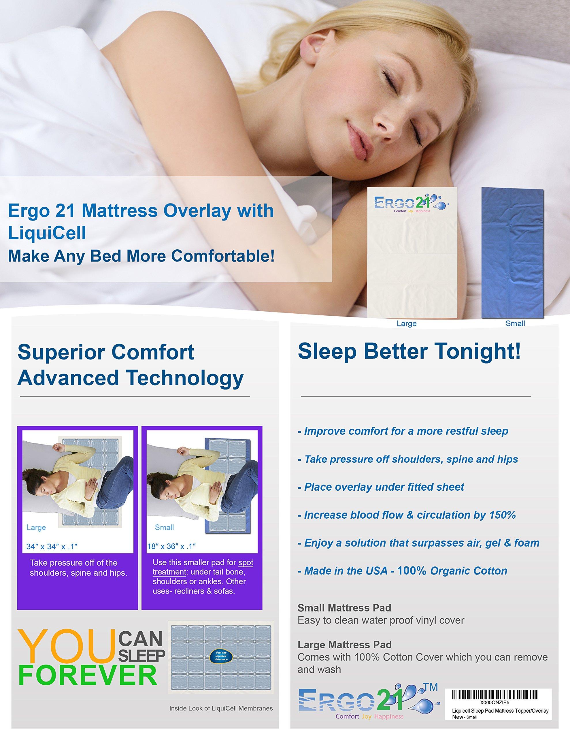 Liquicell Sleep Pad Mattress Topper/Overlay