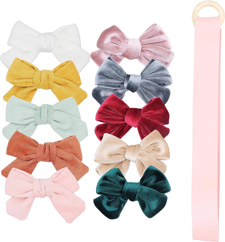 "Girls Hair Bow 4/"" Wide Hello Kitty Flowers Pink Ribbon Flatback Alligator Clip"