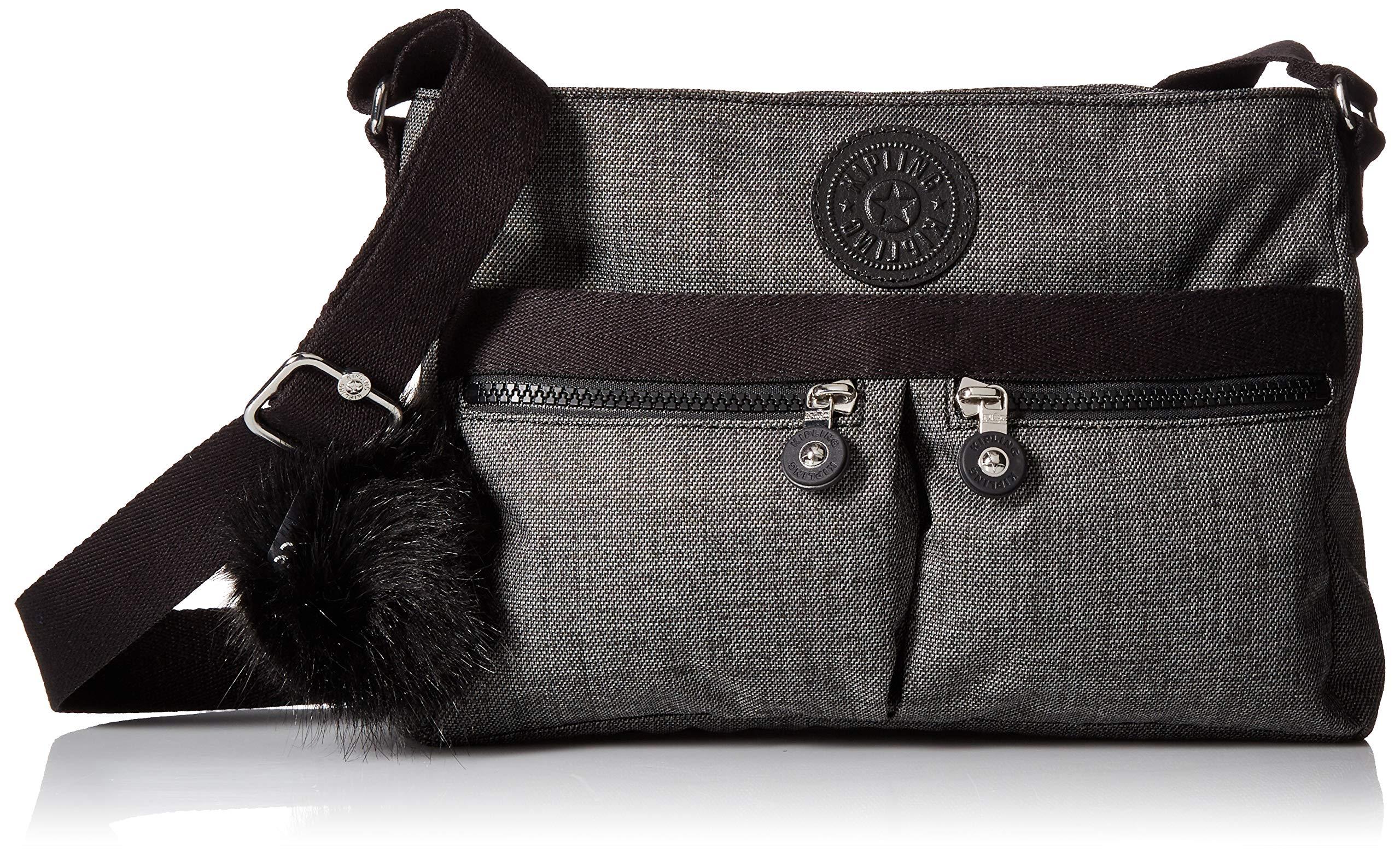 Kipling Angie Solid Crossbody Bag, Cotton Grey