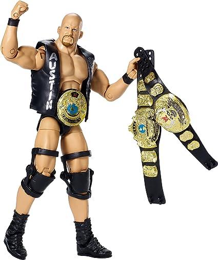WWE MATTEL ELITE DEFINING MOMENTS STONE COLD STEVE AUSTIN BELTS FIGURE WRESTLING