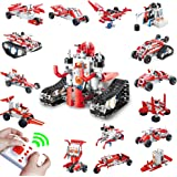 RC Tank Robotics Kit for Kids STEM Toys for Boys Blocks Compatible with Lego KY1015 Amphibious Vehicle inFUNity Remote Control Military Vehicle Building Sets