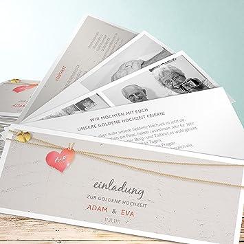 Goldene Hochzeit Einladungskarten Selbst Gestalten