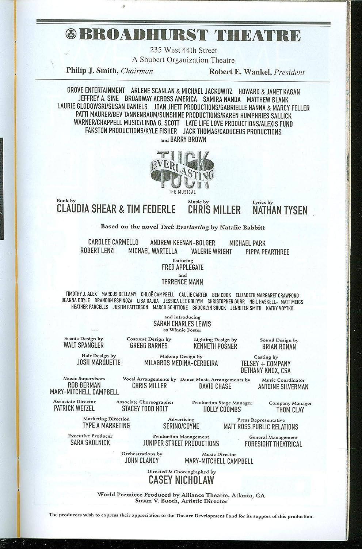 Amazon.com: Tuck Everlasting, Broadway Playbill + Terrence ...
