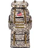HongXingHai 70L/100L Hiking Camping Backpack MOLLE Rucksack Waterproof Daypack for Traveling