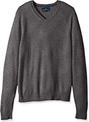 Amazon Brand - Buttoned Down Men's Standard 100% Cashmere V-Neck Sweater
