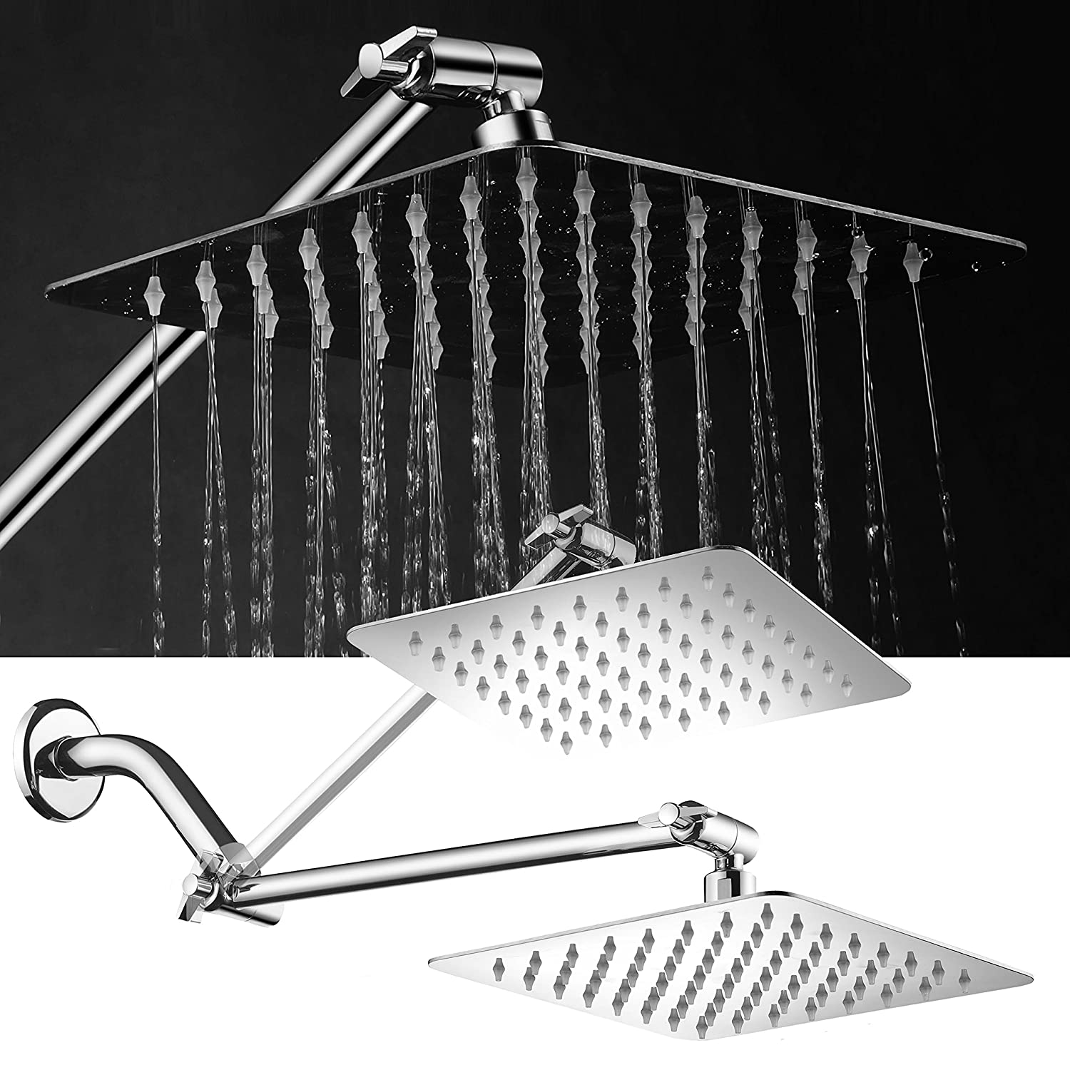 Hotelspa Giant 10 Stainless Steel Rainfall Square Showerhead With