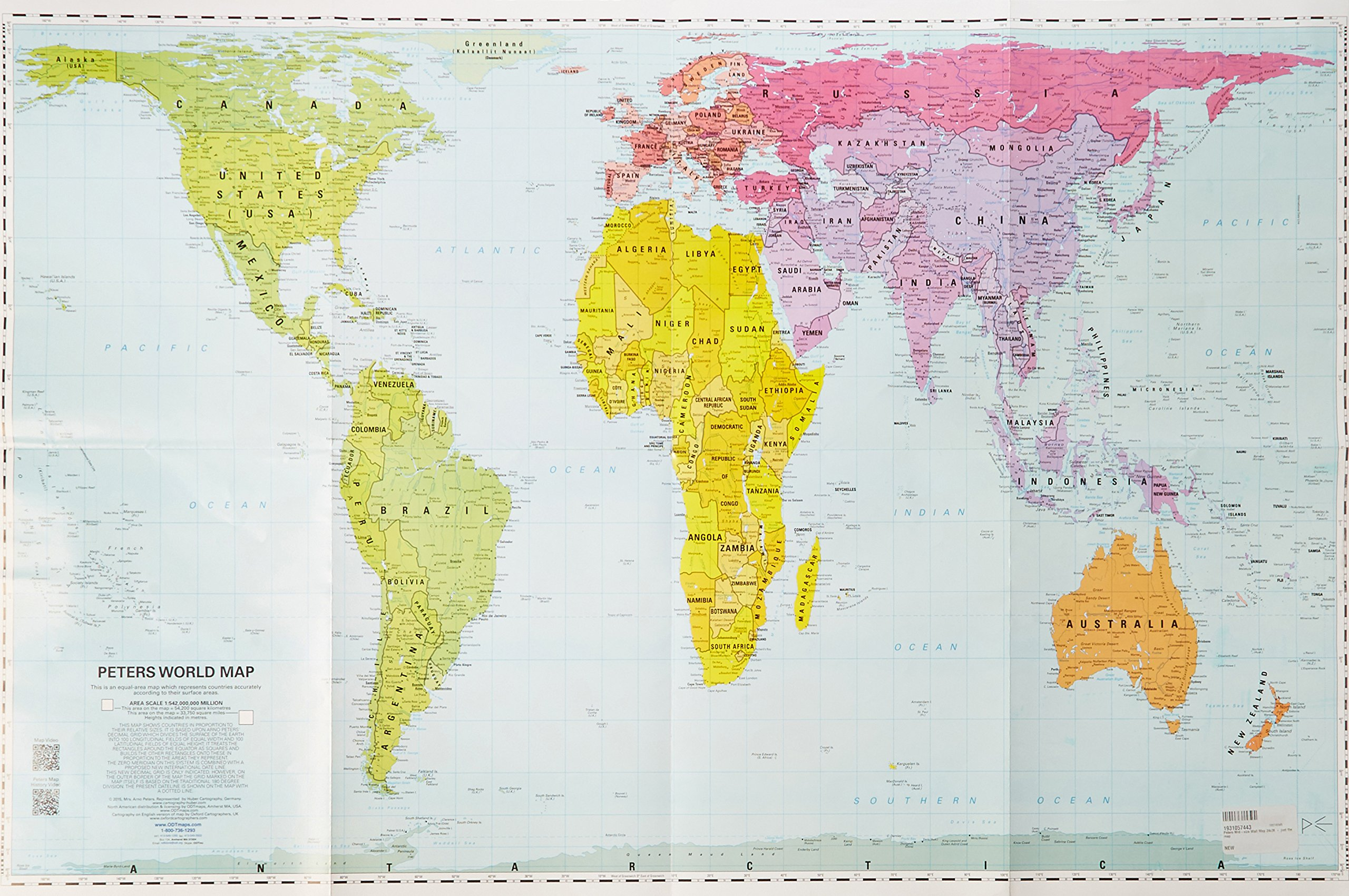 Peters Mid-size Wall Map 24x36 - just the map ebook