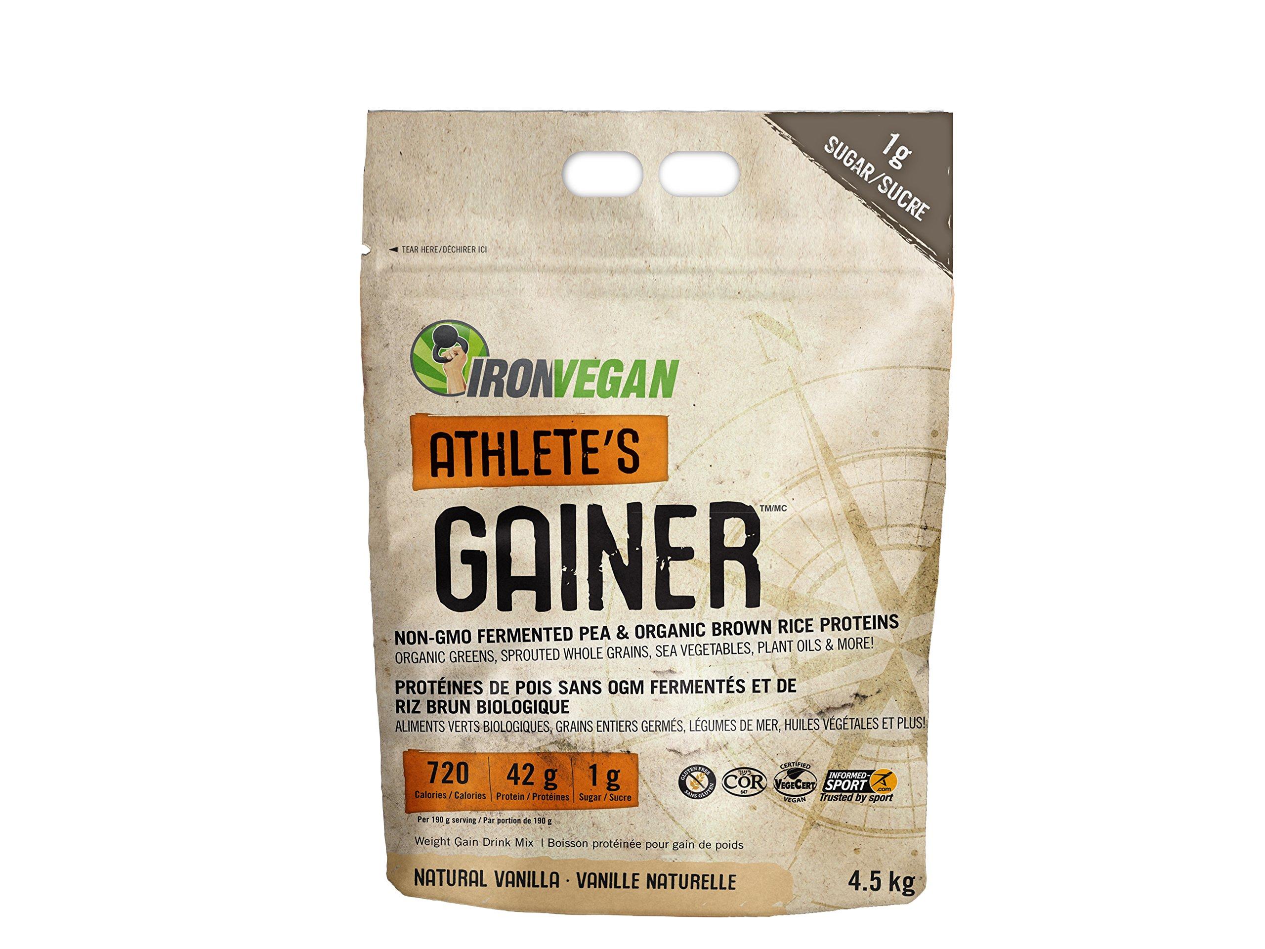 Iron Vegan Athlete's Gainer Natural Vanilla, 10 lbs