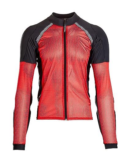 2ab91cceb30 Amazon.com: Bohn All-Season Airtex Armored Riding Shirt - Red/Black ...
