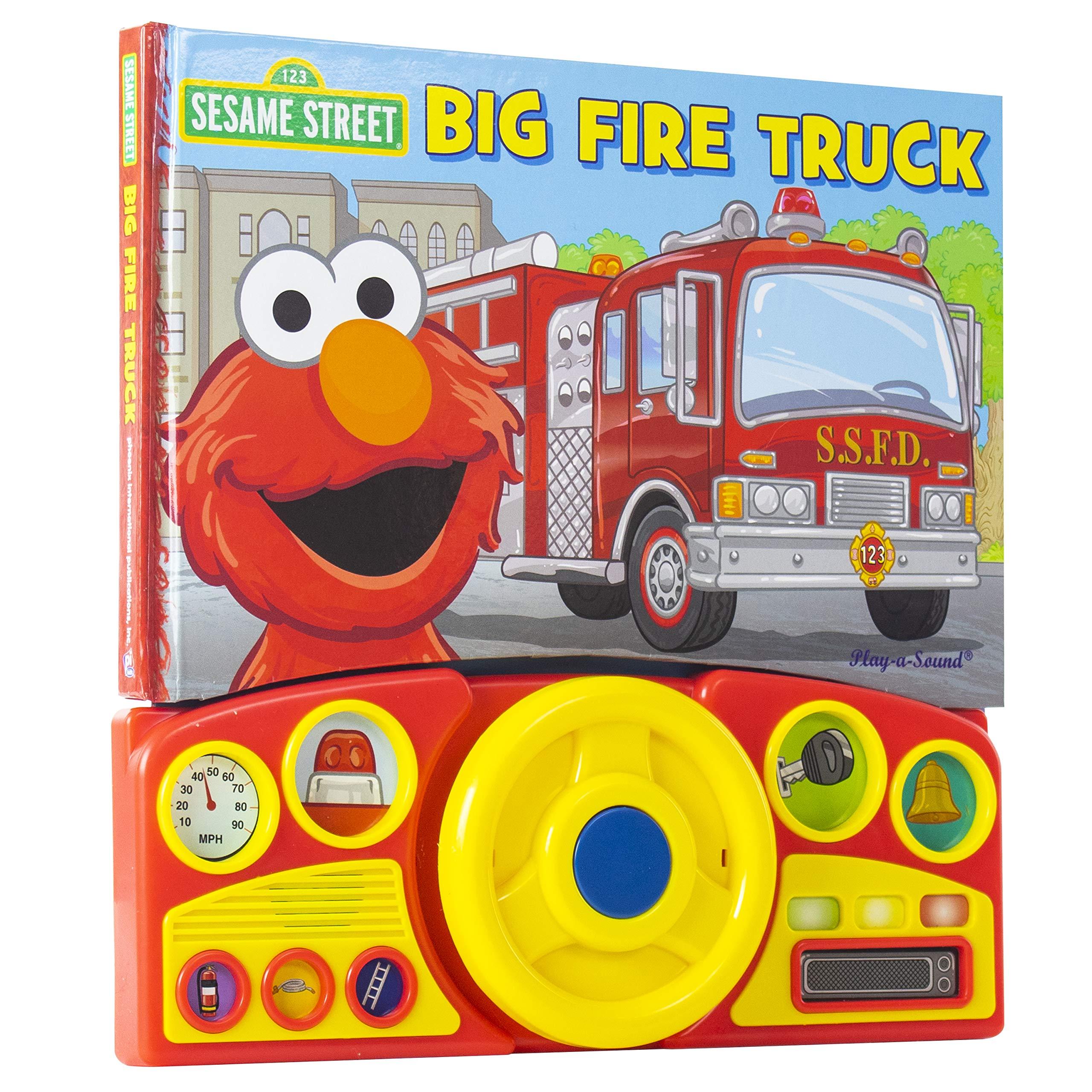 Amazon Com Sesame Street Elmo S Big Fire Truck Adventure