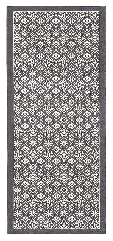 HANSE Home Design Velours Teppich Kurzflor Tile, Polypropylen, Grau Creme, 200 x 290 x 0.9 cm