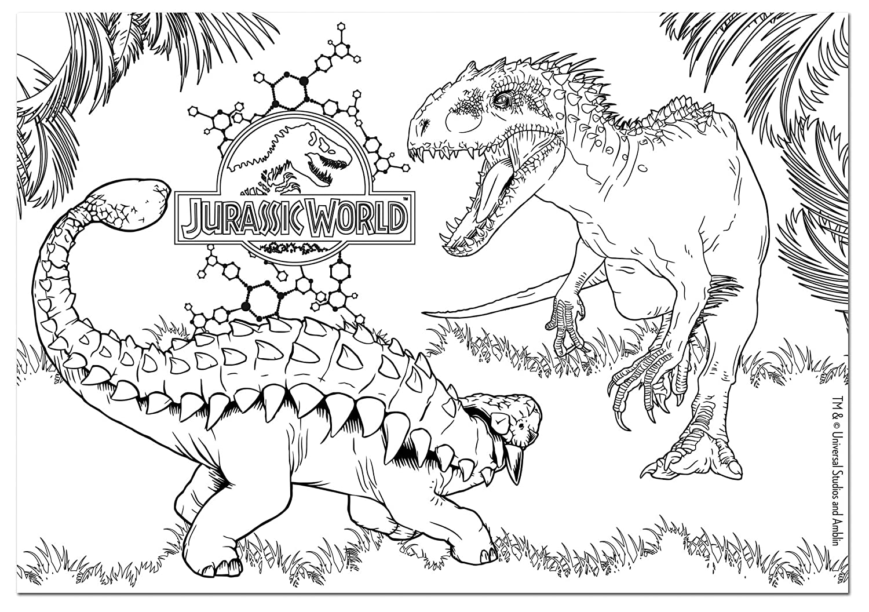 Indominus Rex Da Colorare Stampae Colorare