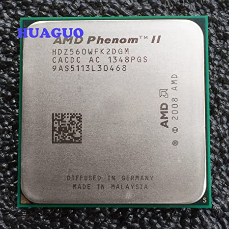 Amazon Com Amd Phenom Ii X2 560 Black Edition 3 3 Ghz Dual Core Cpu Processor Hdz560wfk2dgm Hdz560wfgmbox Socket Am3 Computers Accessories