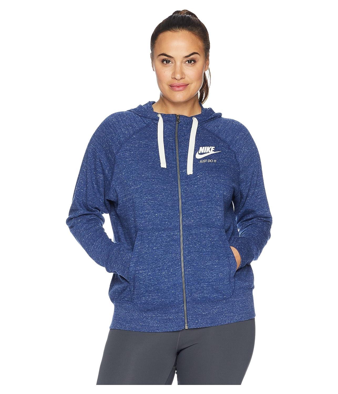 [ナイキ] レディース パーカースウェットシャツ Plus Size Gym Vintage Full Zip Extended [並行輸入品] B07HN9F98Y 2X