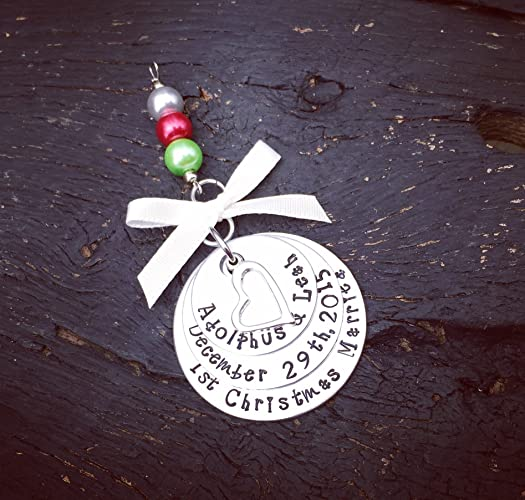 Amazon.com: First Christmas Married Ornament   First Year Married ...