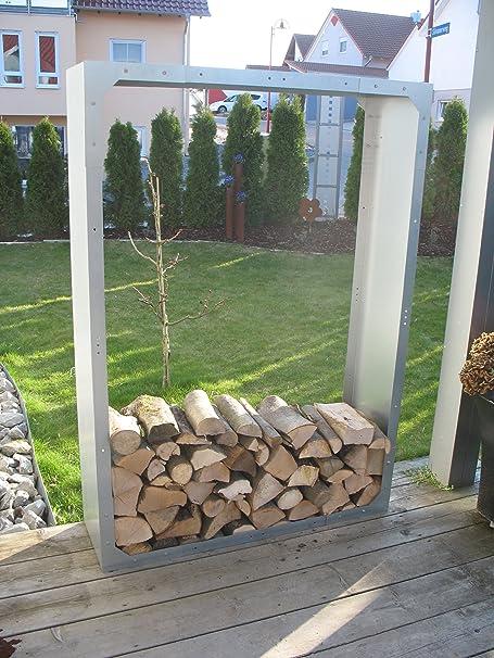 Kaminholzregal Metall Feuerverzinkt Amazonde Garten