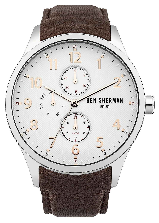 Ben Sherman Herren-Armbanduhr Spitalfields Multi-Function Analog Quarz Leder WB004BR