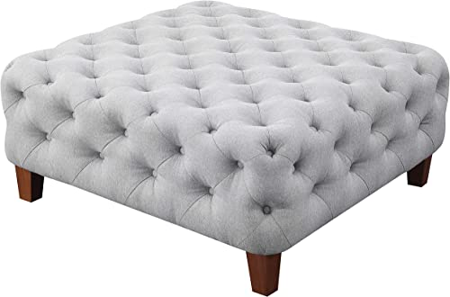Amazon Brand Ravenna Home Sage Diamond Tufted Ottoman