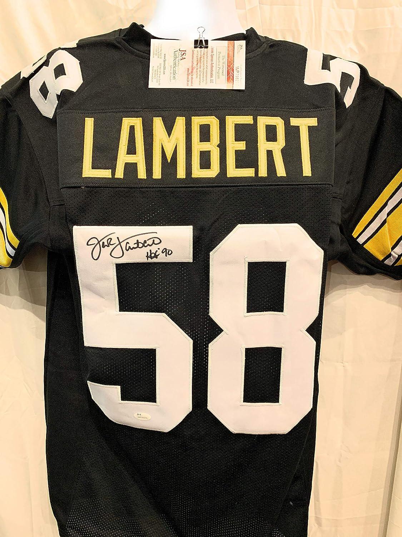 Jack Lambert Pittsburgh Steelers Signed Autograph Black Custom Jersey JSA Witnessed Certified