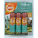 OFF! FamilyCare Insect Repellent Smooth & Dry 6 Ounce 3 Count
