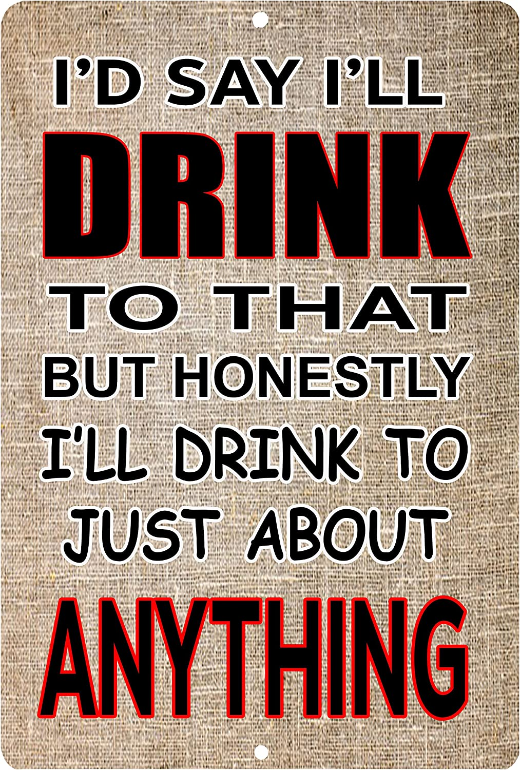 Rogue River Tactical Funny Beer Alcohol Sign Metal Tin Sign Home Bar Kitchen Drink to Anything