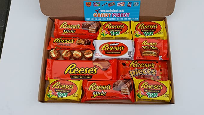 American Sweets Chocolate Candy Hamper Selection Box Birthday Gift